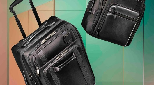 Partner show tumi merge collection sustainable suitcases short trip international release s