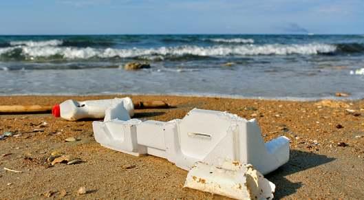 Partner show polystyrene beach plastic pollution