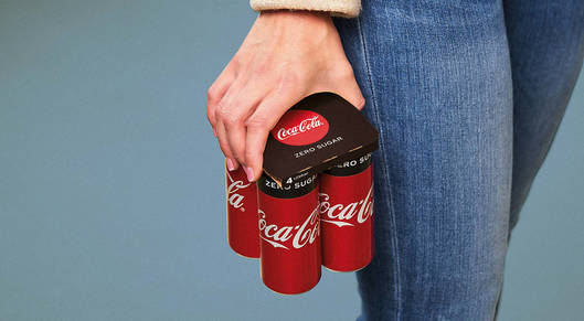 Partner show p 1 90439524 in europe coke is replacing plastic six pack rings with these paper lids
